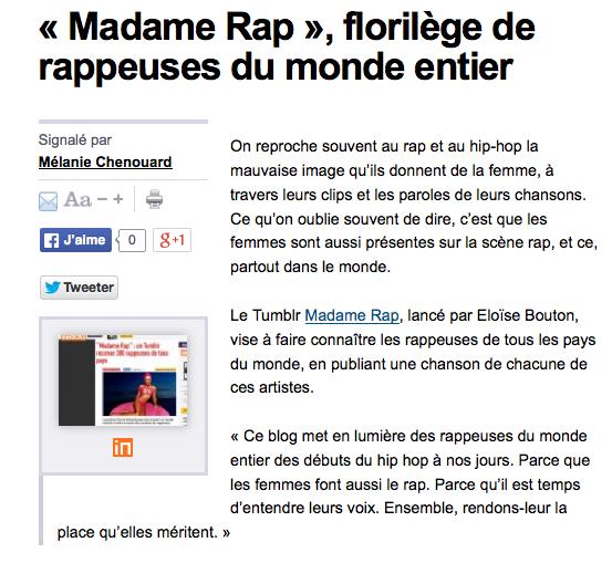 madame rap rue89